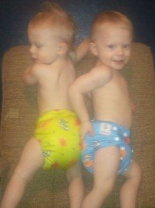Twins posing in their new Kawaii Goodnights