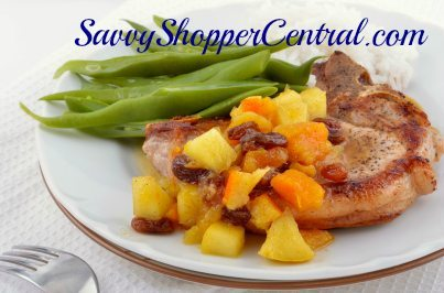 30 Minute Pork Chops with Apple Chutney