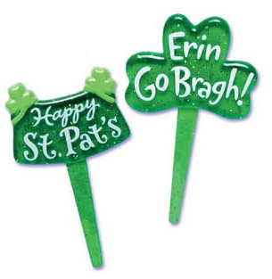 St Patrick's Day Cupcake Toppers
