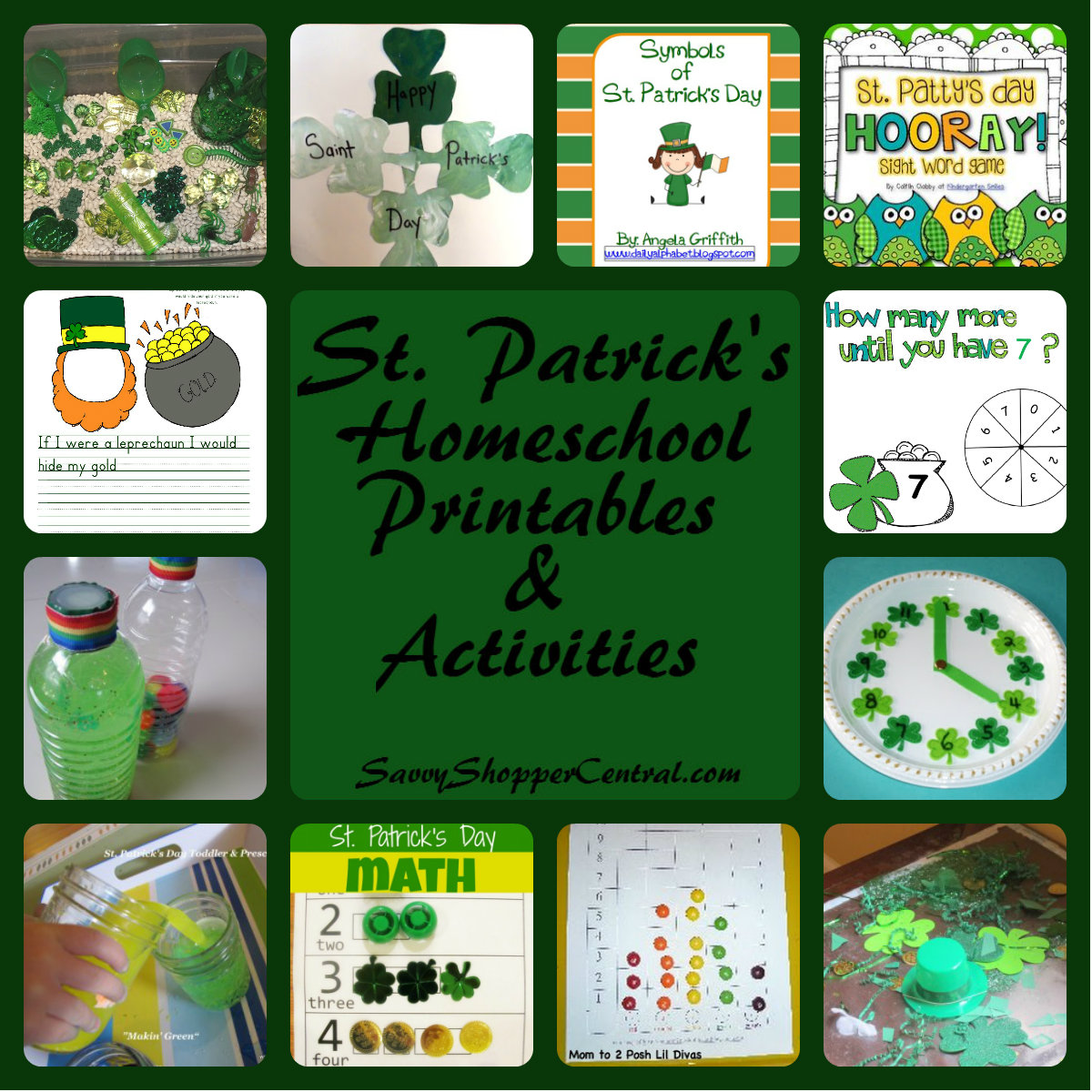 St Patrick's Day Homeschool Printables & Activities