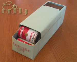 Homemade Can Organizer