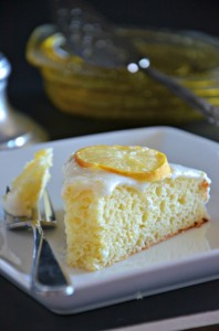 Meyer Lemon Cake with Greek Yogurt