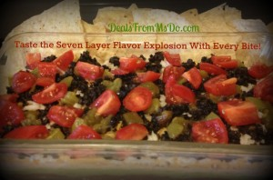 Seven Layer Bean Dip with Chips