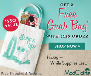 Free ModCloth Bag with purchase