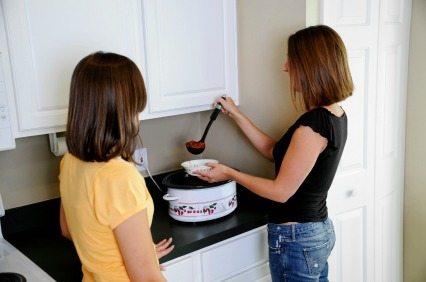 Use the crockpot to save time