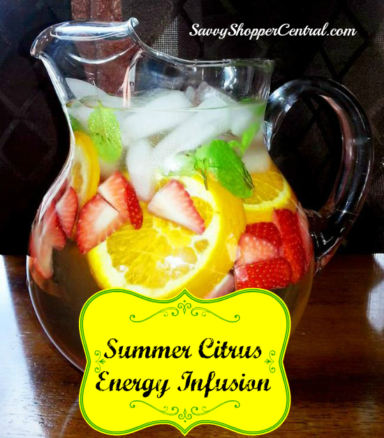Summer Citrus Energy Infusion Spa Water