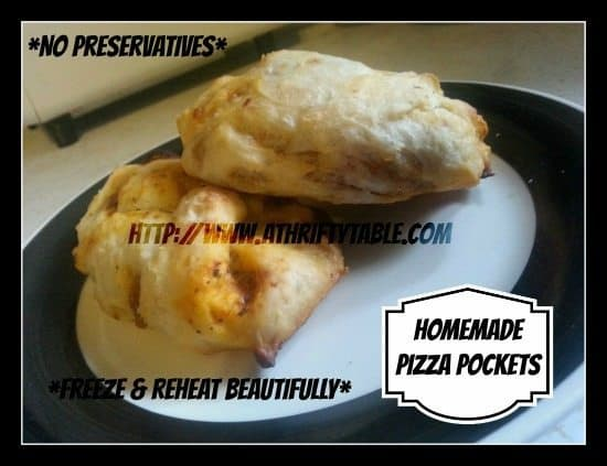 Homemade Hot Pockets - Pizza