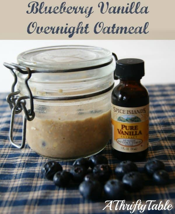 Blueberry Vanilla Overnight Oatmeal