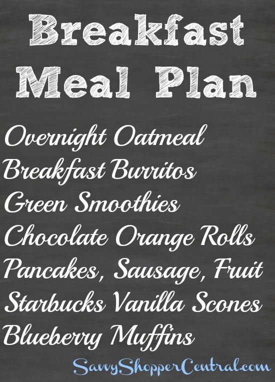 Breakfast Meal Plan