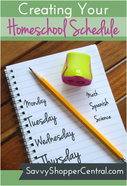 Creating Your Homeschool Schedule