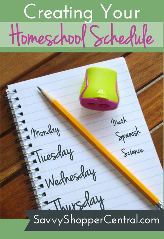 Creating Your Homeschool Schedule