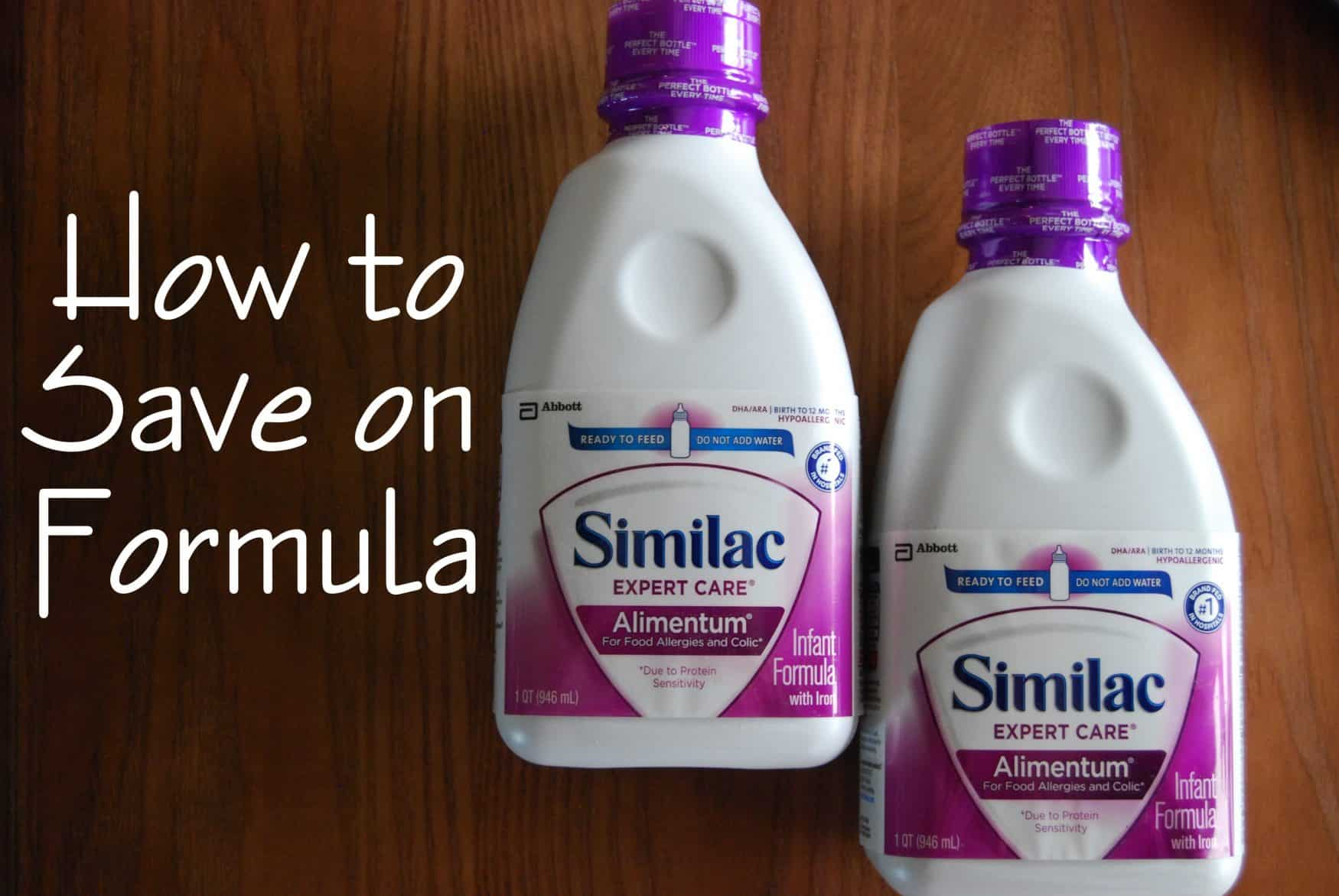 how to save money on formula