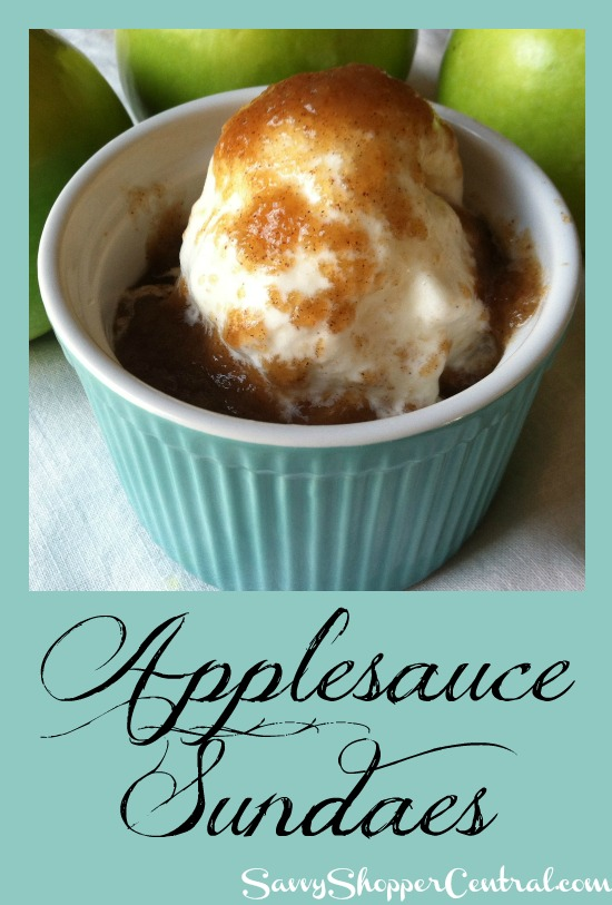 Applesauce Sundaes