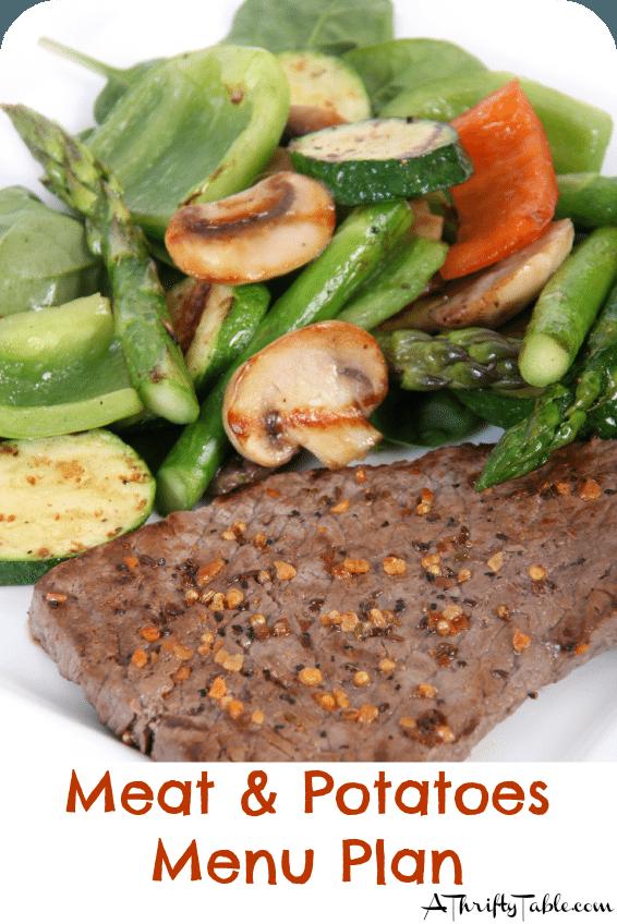 Meat & Potatoes Menu Plan