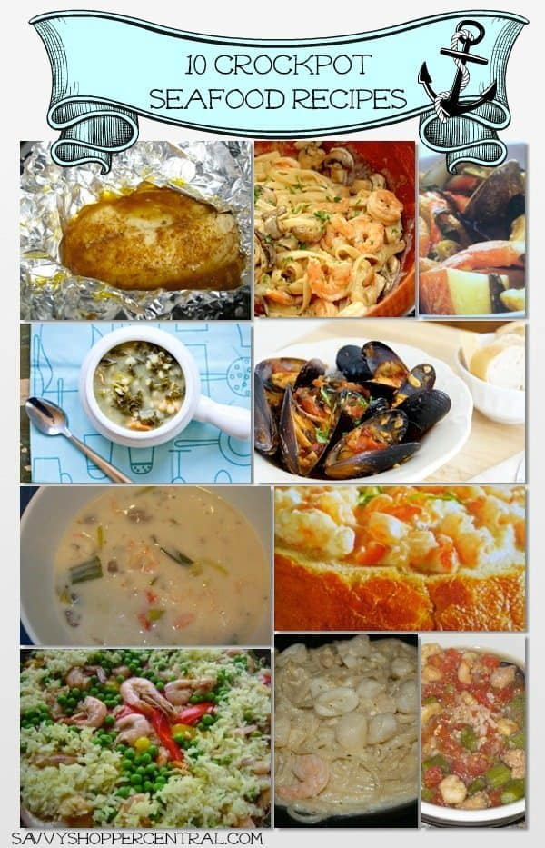 The BEST Seafood Slow Cooker Recipes on the internet! Quick making the same old roasts and stews with these delicious crockpot seafood recipes!