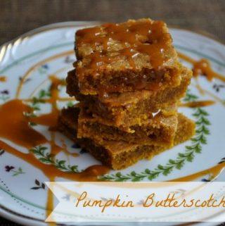 Pumpkin Butterscotch Bars