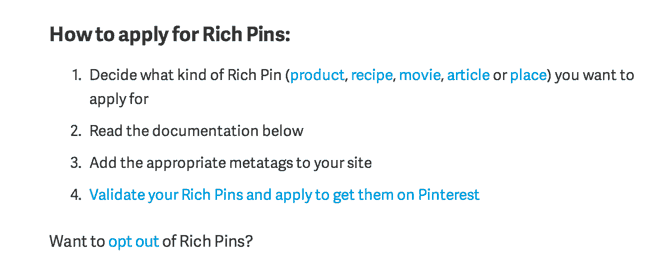 Validate Rich Pins