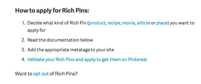 Validate Rich Pins