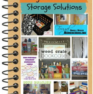 Frugal Homeschool Storage Solutions