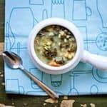 Shrimp, Kale, and White Bean Crockpot Soup