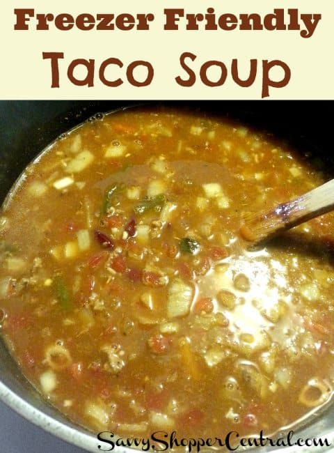 Easy Taco Soup for the Freezer