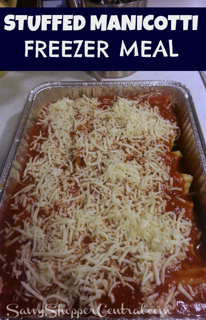 Stuffed Manicotti Freezer Cooking