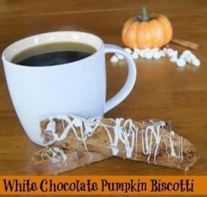 White Chocolate Pumpkin Biscotti Recipe