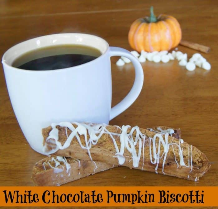 White Chocolate Pumpkin Biscotti
