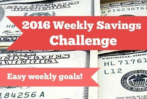 2016 Weekly Savings Challenge