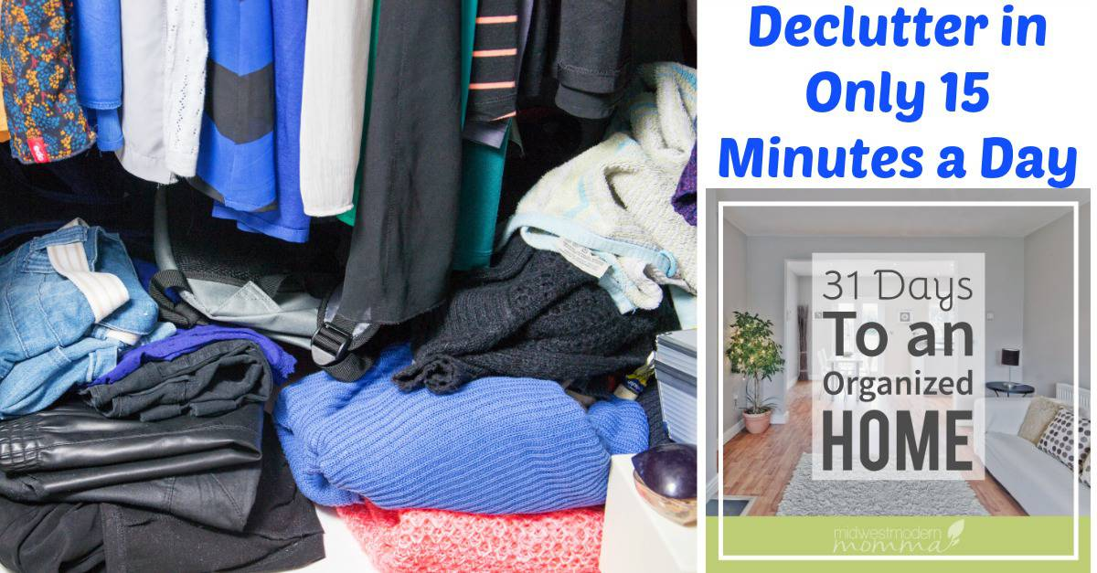 Declutter in only 15 minutes a day