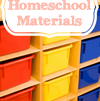 Easy Ways to Store Homeschool Materials