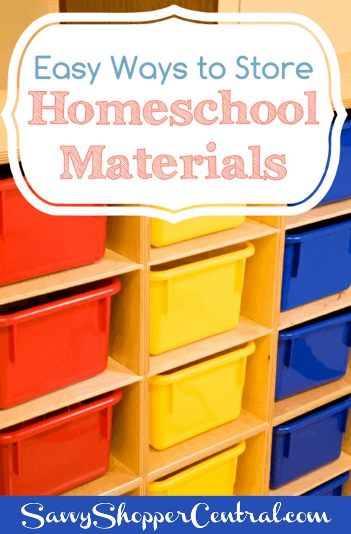 Easy Ways To Store Homeschool Materials