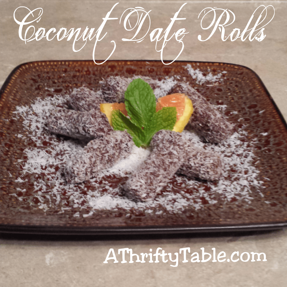 Chocolate Orange Coconut Date Rolls