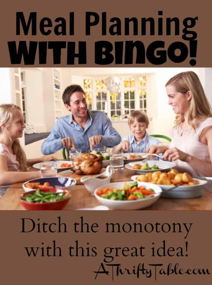 Use Bingo to plan out your meals!