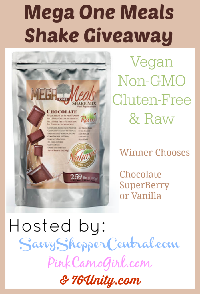 Mega One Meals Shake Giveaway