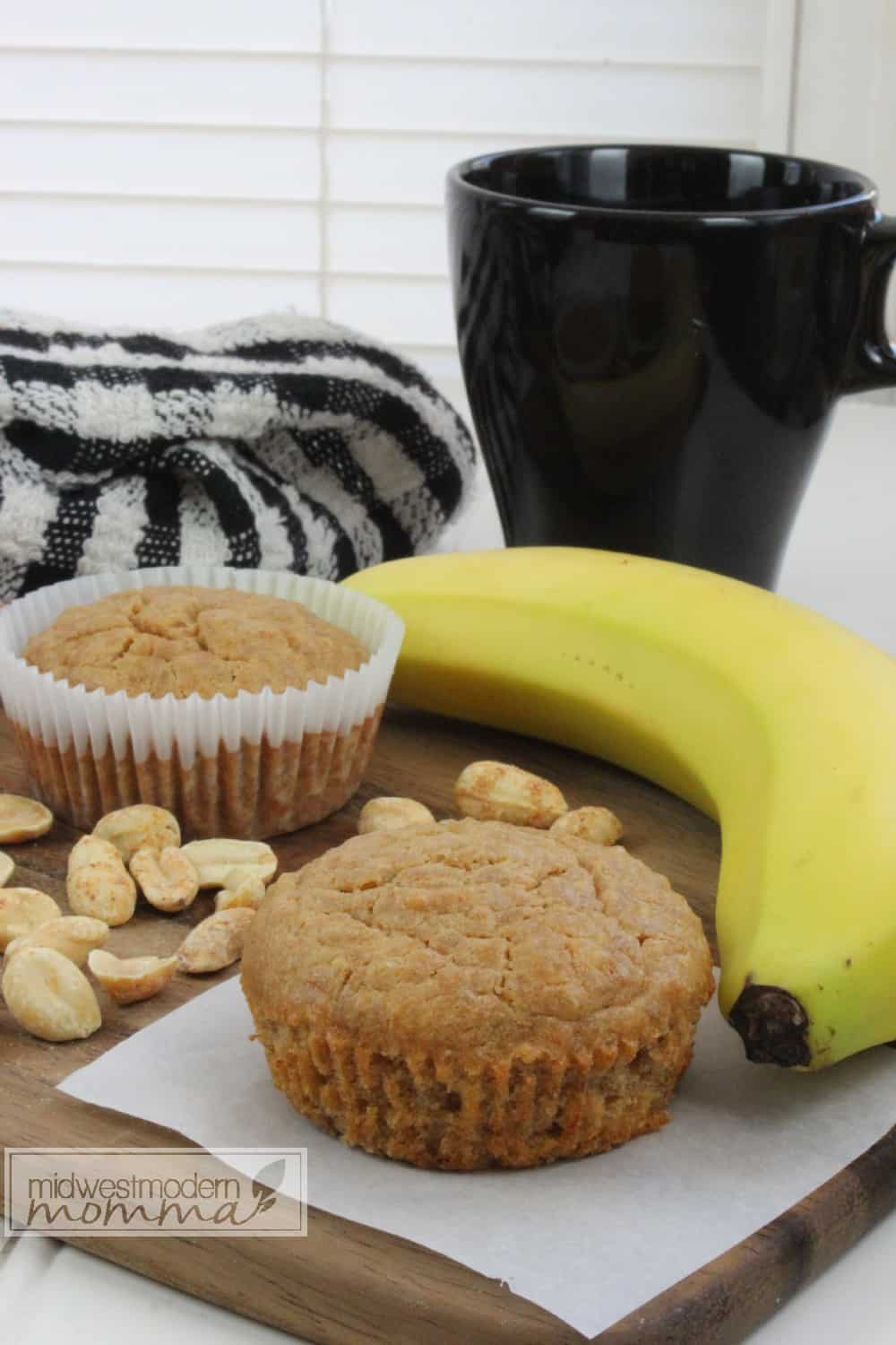 Peanut Butter & Banana Quinoa Muffin Recipe