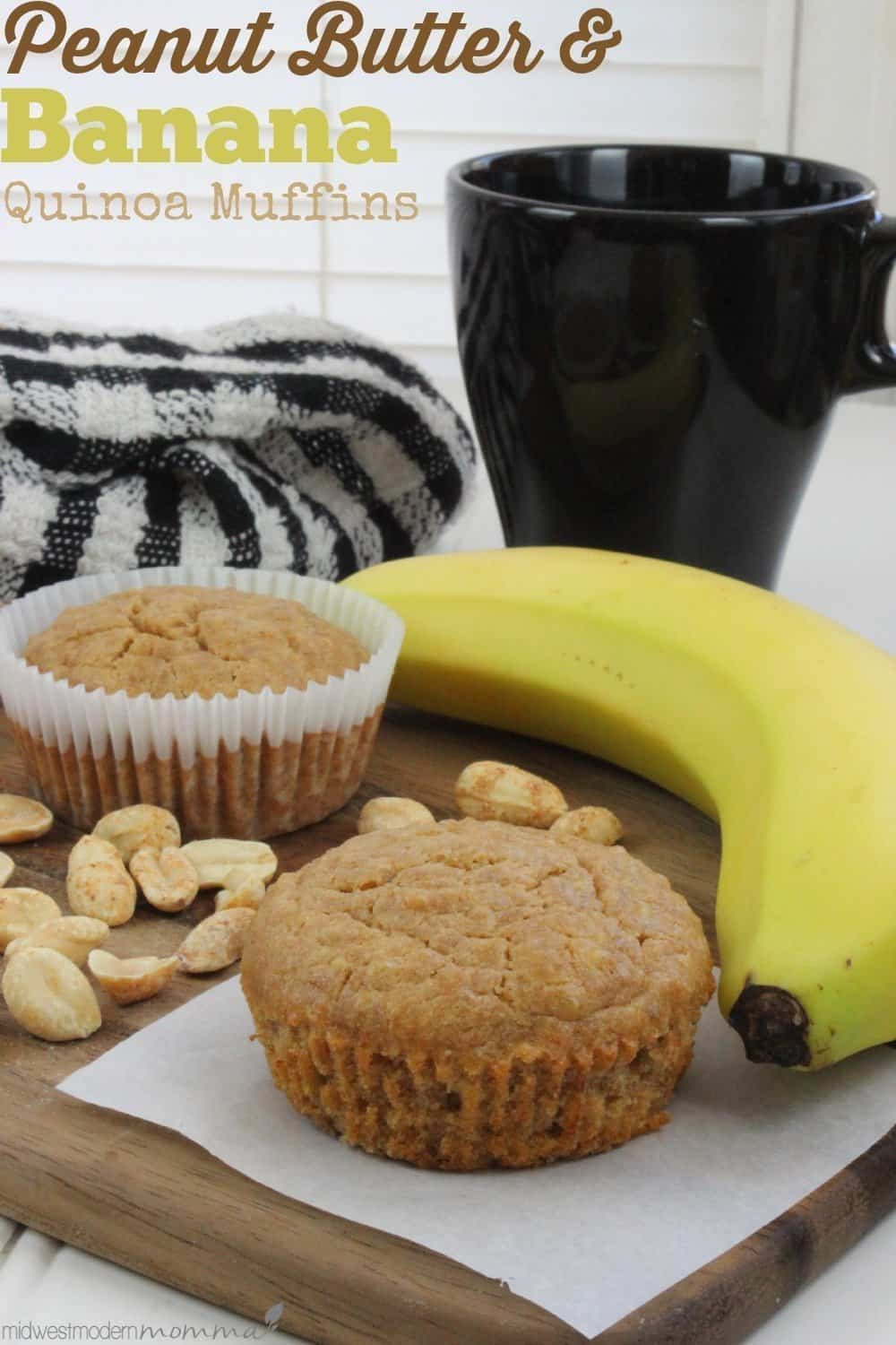 Peanut Butter and Banana Quinoa Muffins