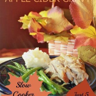 Crockpot Pork Roast with Apple Cider Gravy