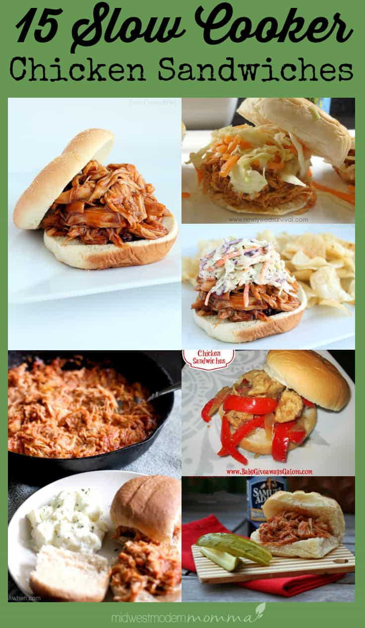15 Slow Cooker Chicken Sandwich Recipes