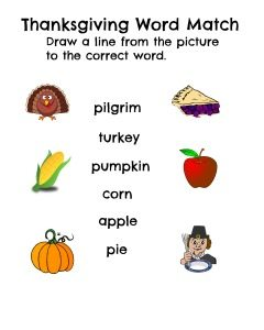 Thanksgiving word match (1)