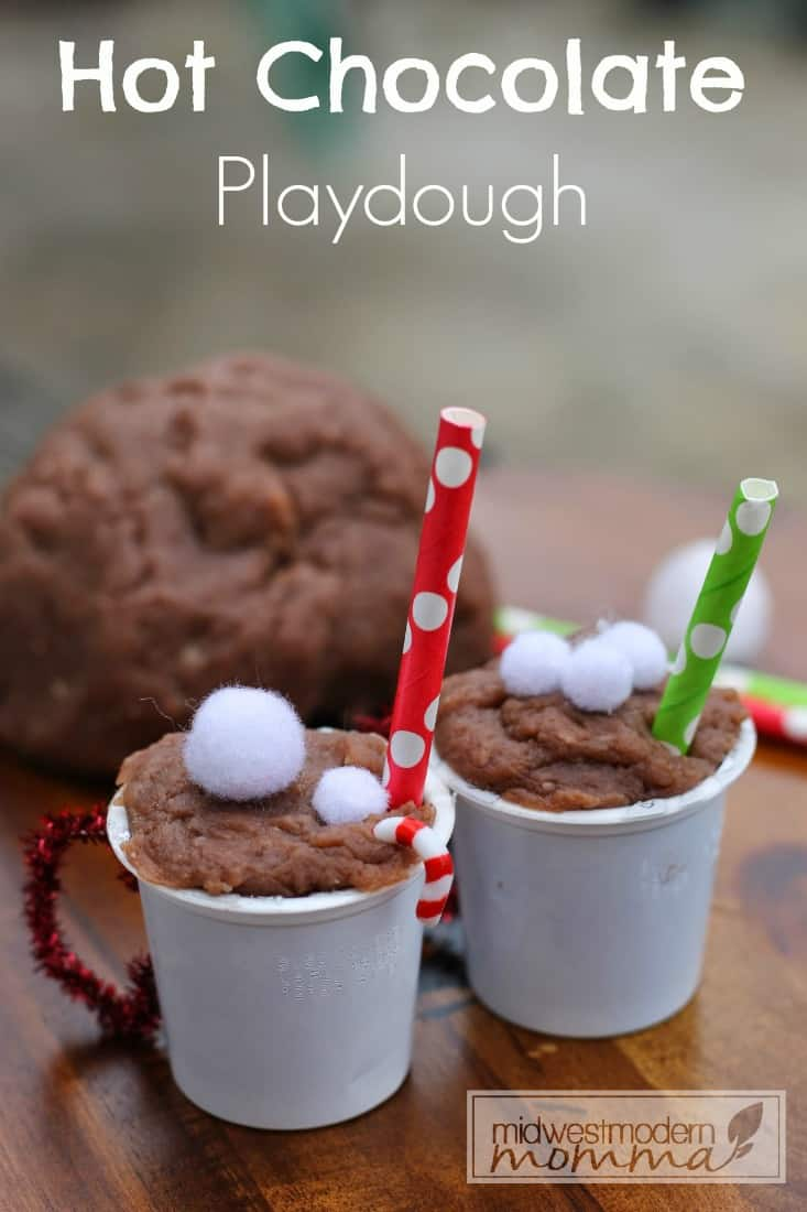hot chocolate play dough final