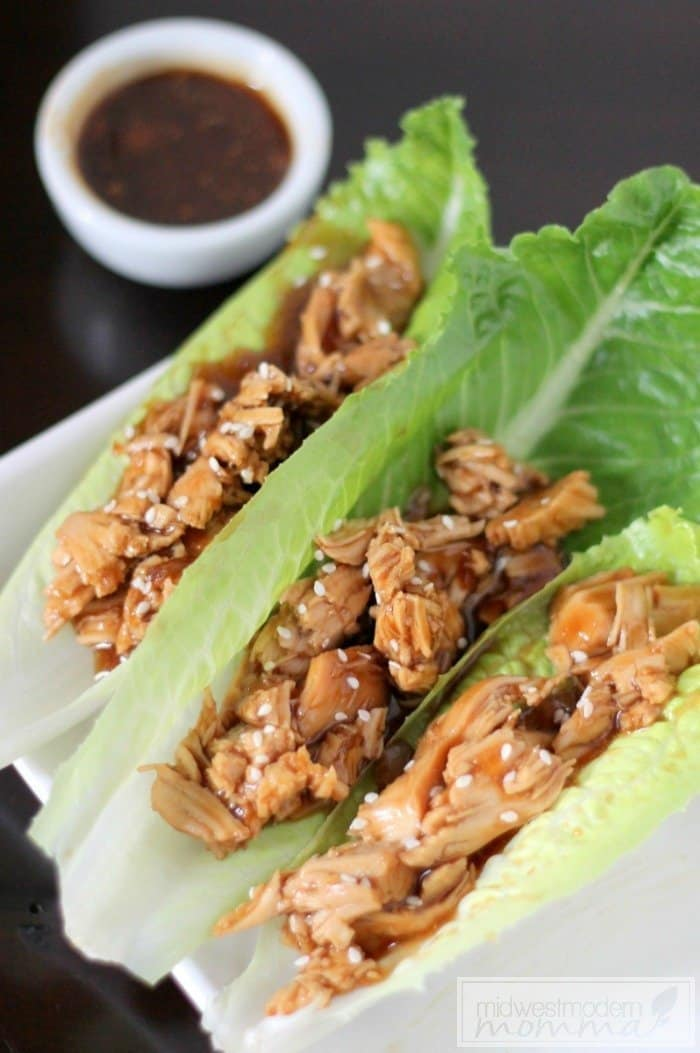 Paleo Slow Cooker Chicken Teriyaki Wraps
