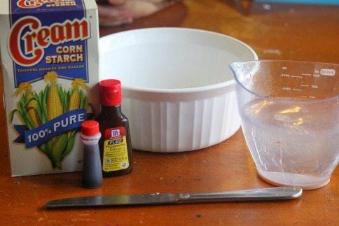 peppermint oobleck supplies