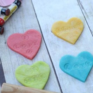 Conversation Heart Play dough