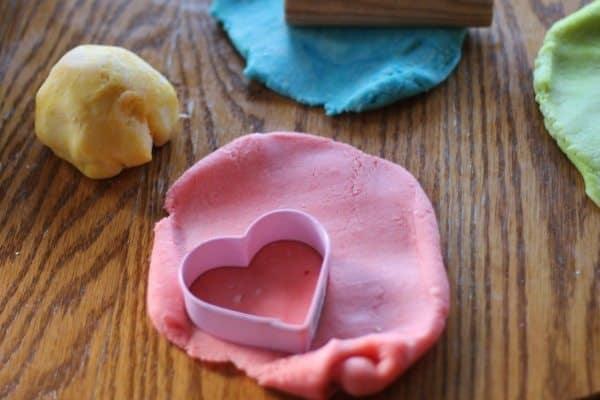 valentine dough cut out