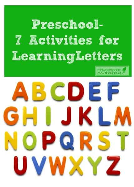 preschool learning letters