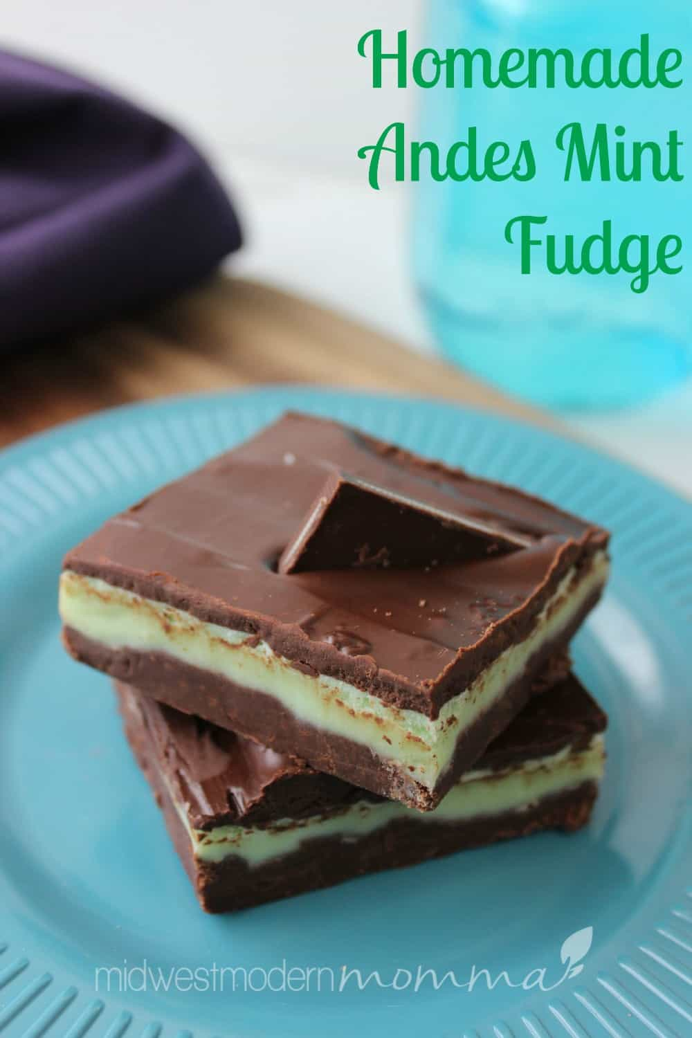 Homemade Andes Mint Chocolate Fudge Recipe