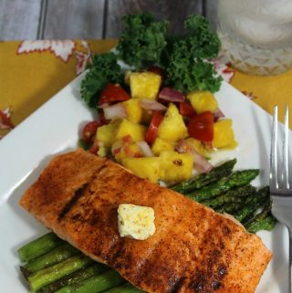 Blackened Salmon with Pineapple Salsa Recipe