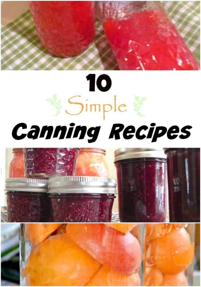 Canning Recipes for classic home canning that are easy for anyone to follow! Check this out to begin your home canning journey!