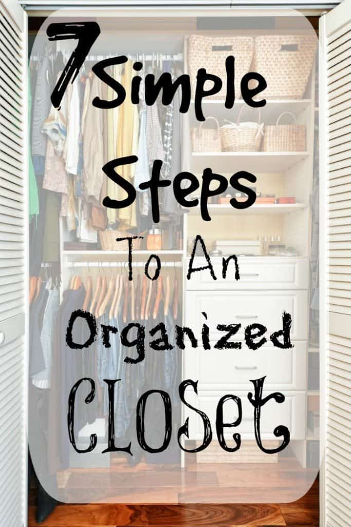 Organizing the Closet in 7 Easy Steps